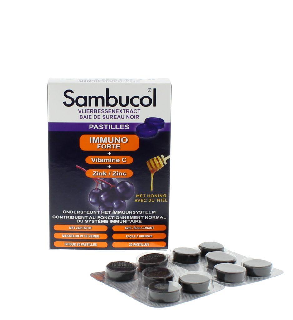 Sambucol Pastilles met vlierbessen, vitamine C en zink - Ondersteunt je weerstand