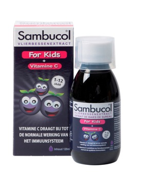 Sambucol Kids Siroop als ondersteuning van de weerstand en immuunsysteem van je kinderen
